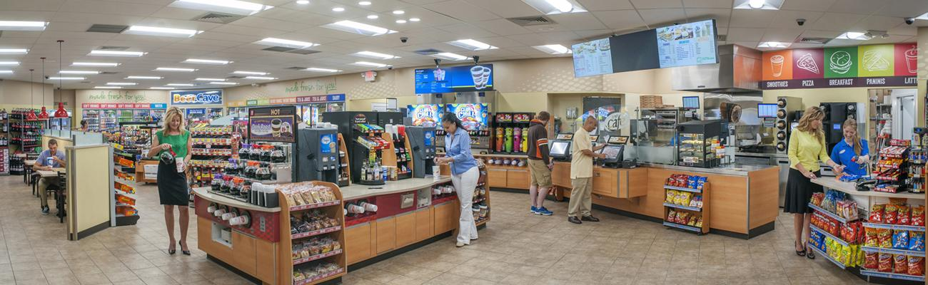 Inside of a Speedway convenience store