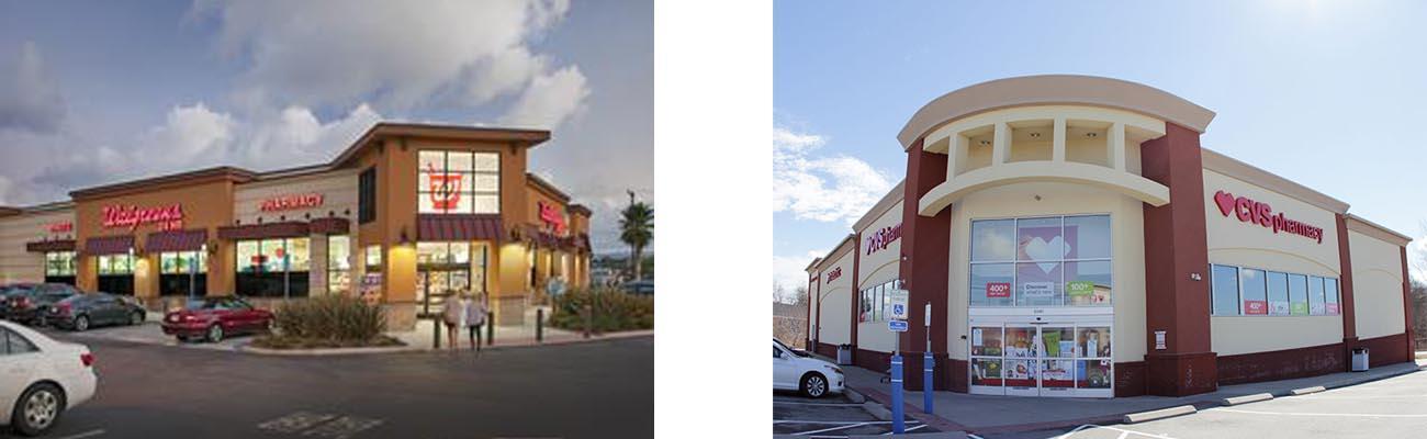 Walgreens and CVS locations