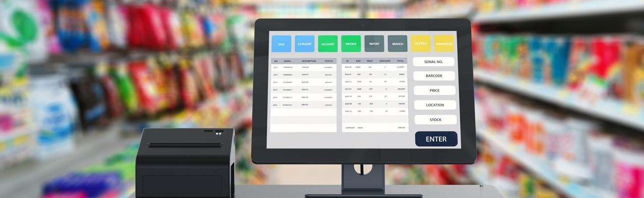 The point of sale in a convenience store
