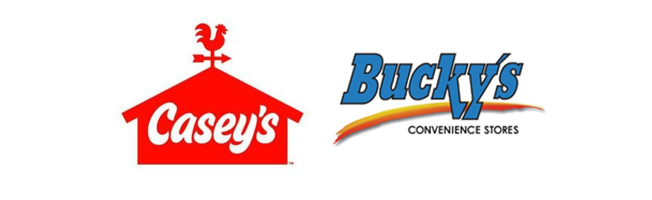 Logos for Casey's and Bucky's
