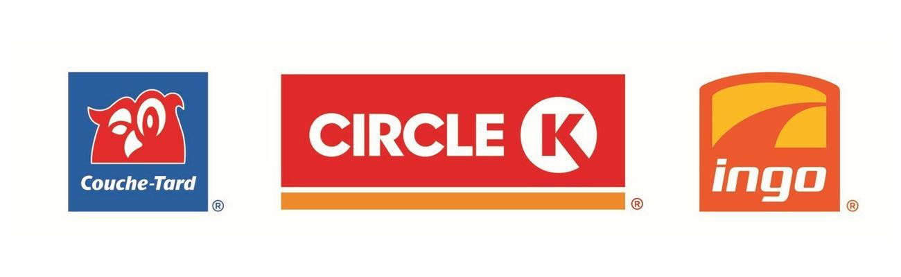 Logos for Couche-Tard retail brands