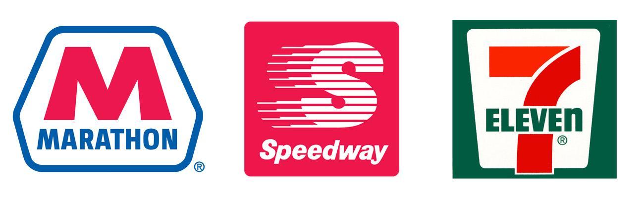 Logos for Marathon Petroleum Speedway and 7-Eleven