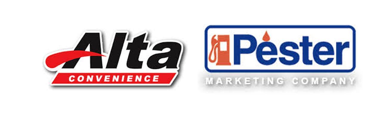 Logos for Alta Convenience & Pester Marketing