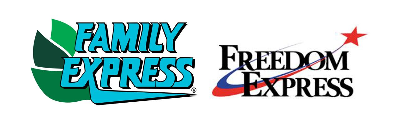Logos for Family Express and Freedom Express