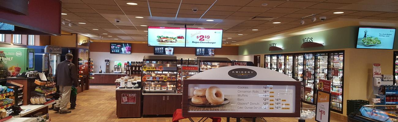 Kwik Trip digital signage at a La Crosse store