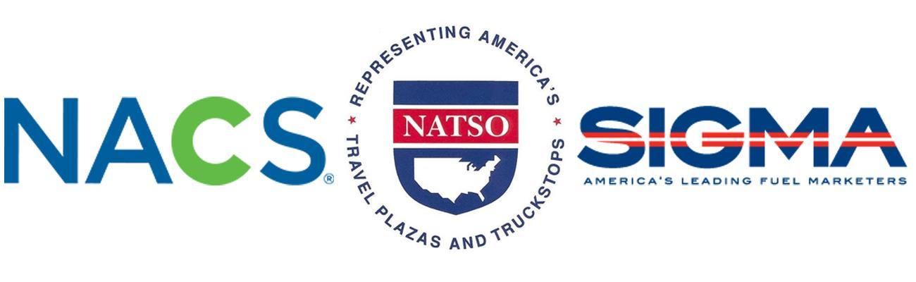 Logos for NATSO, NACS and SIGMA