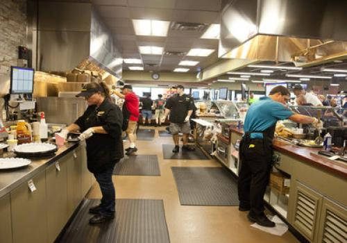 The Duncannon store features Rutter's largest restaurant kitchen which bakes, fries, cooks and prepares all the food items on the store's impressive menu.
