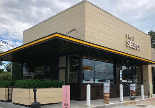The Shell Select in Louisville, Ky., which sits on the site of a former Thorntons convenience store, boasts modern architecture.