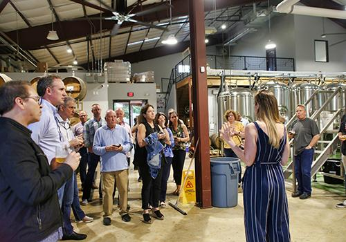 Tour of the brewing building at Vista Brewing