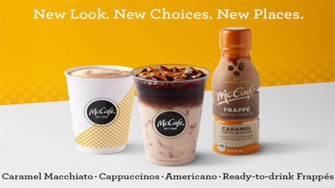 McDonald's new McCafe offers.