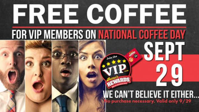 A promotion for Rutter's National Coffee Day offer