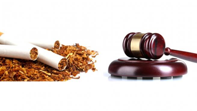 Tobacco legislation image of cigarettes and a gavel