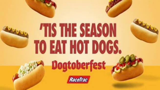 Promotion for Dogtoberfest at RaceTrac