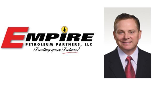 The Empire Petroleum LLC logo with a headshot of Rocky Dewbre, new CEO