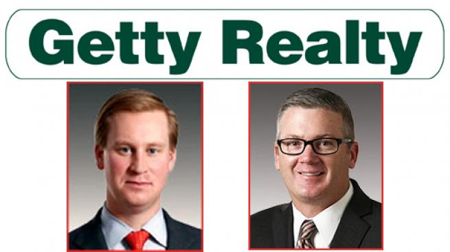 Christopher Constant, CEO, (left) and Mark Olear, executive vice president and COO, of Getty Realty Corp.