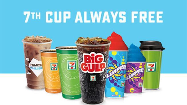 7-Eleven promotion for seventh beverage free