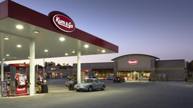 The exterior of a Kum & Go convenience store