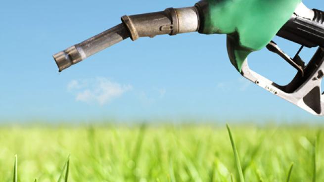 a gas nozzle in a corn field