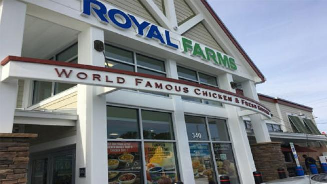 Royal Farms storefront banner