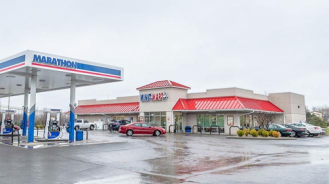 The exterior of a TravelCenters of America Minit Mart