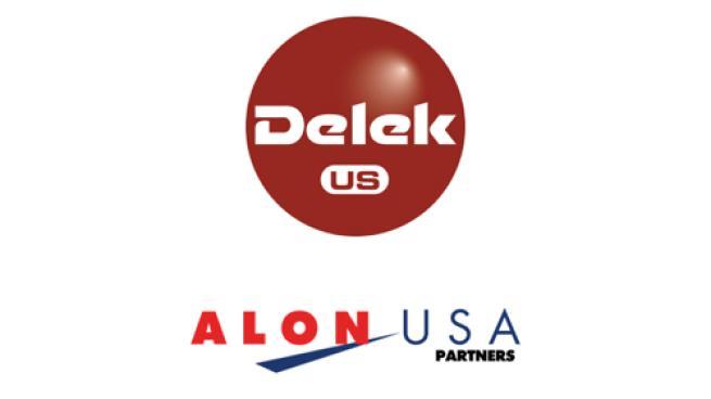 Logos for Delek US and Alon USA