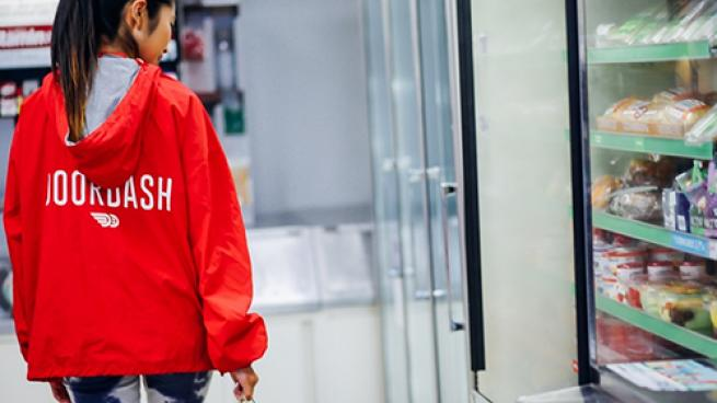 A DoorDash delivery partner