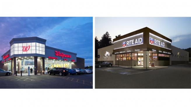 Walgreens and Rite Aid stores