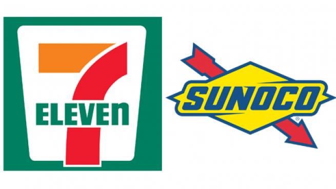 7-Eleven and Sunoco logos