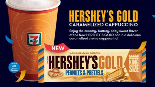 7-Eleven Hershey's Gold cappuccino limited-time offer