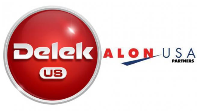 Logos for Delek US Holdings and Alon USA Partners LP