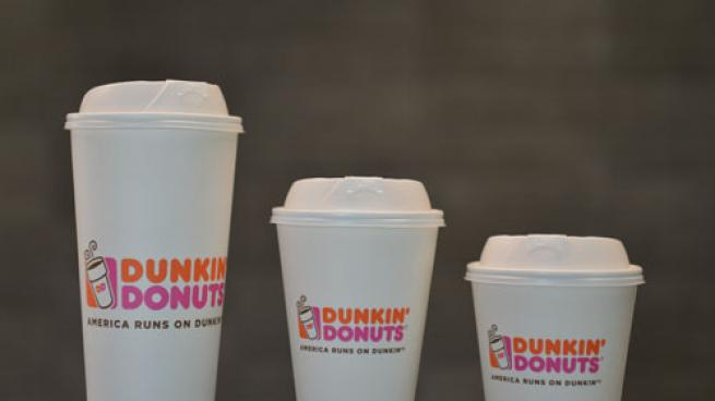 Dunkin' Donuts double-walled paper cups
