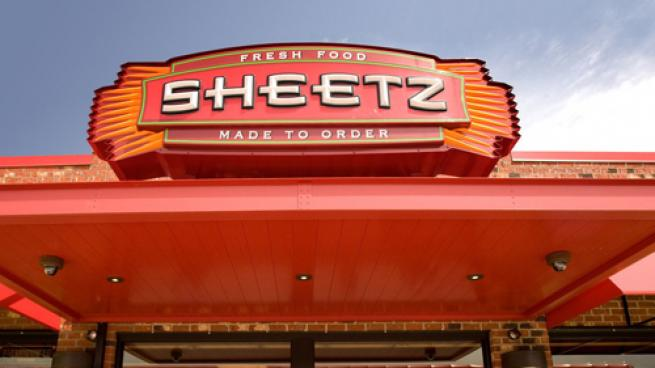 An exterior sign for a Sheetz Inc. convenience store