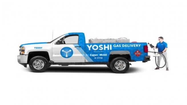 Yoshi on-site fuel and car services truck