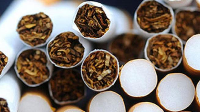 An image of a stack of cigarettes
