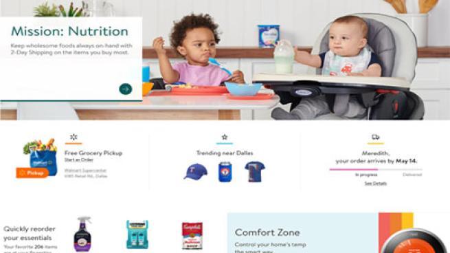 new Walmart.com homepage