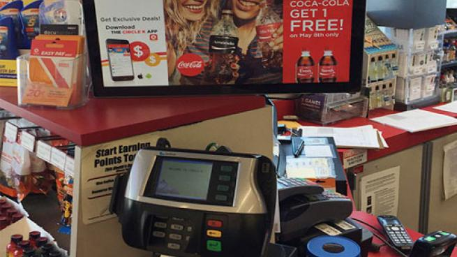 Circle K Share a Coke promo at checkout