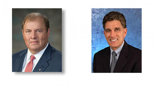 Gary Heminger (left) will serve as chairman and CEO and Greg Goff will join MPC as executive vice chairman.