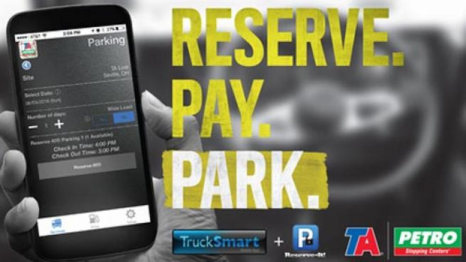 TravelCenters of America's Reserve-It parking service