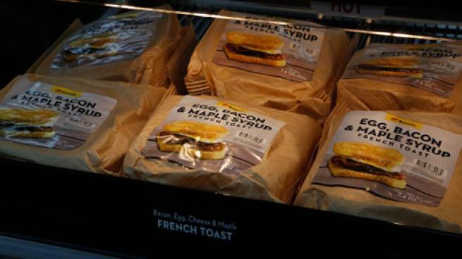 Love's breakfast sandwiches