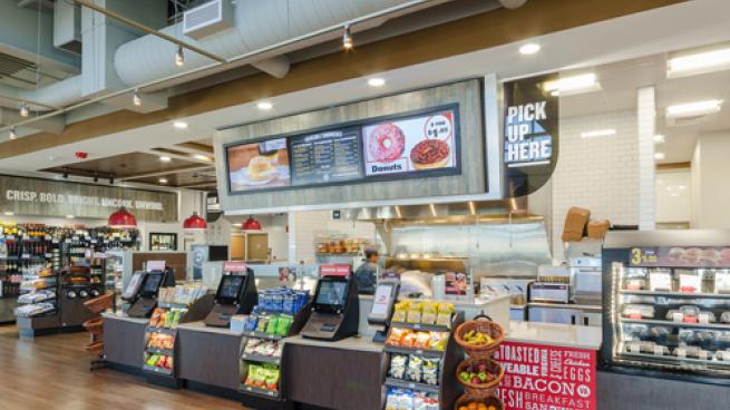 Interior of new Dash In convenience store