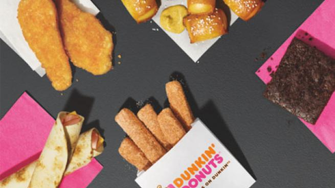 Dunkin' Run snack menu