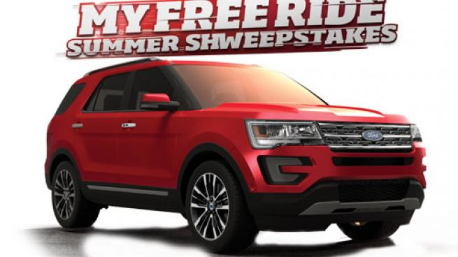My Free Ride Summer Sweepstakes 2018