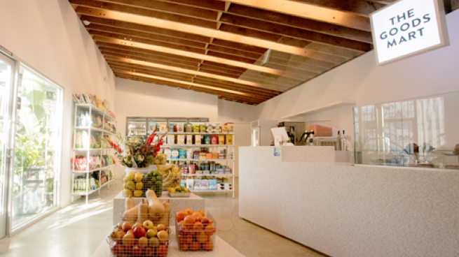 Interior of The Goods Mart convenience store