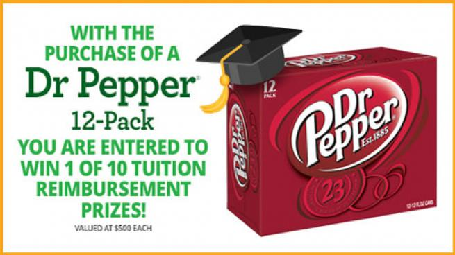 Yesway Dr Pepper tuition reimbursement grant sweepstakes