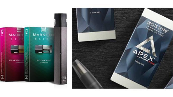 MarkTen Elite and Apex e-vapor products