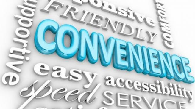 convenience word graphic