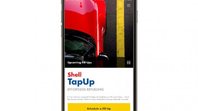 Shell TapUp mobile app interface