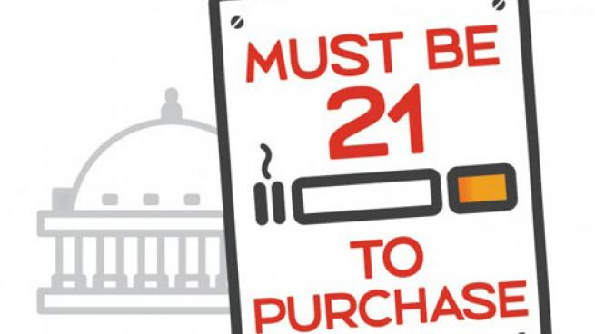 Tobacco 21 sign