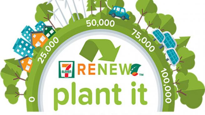 "As part of 7-Eleven's planting initiative, it launched ""Plant It Forward,"" enabling customers to dedicate a tree to for free."