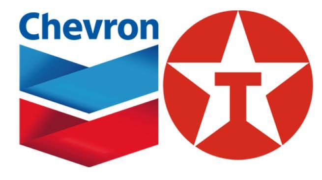 Logos for Chevron and Texaco